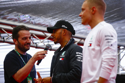 Lewis Hamilton, Mercedes AMG F1, and Valtteri Bottas, Mercedes AMG F1, are interviewed