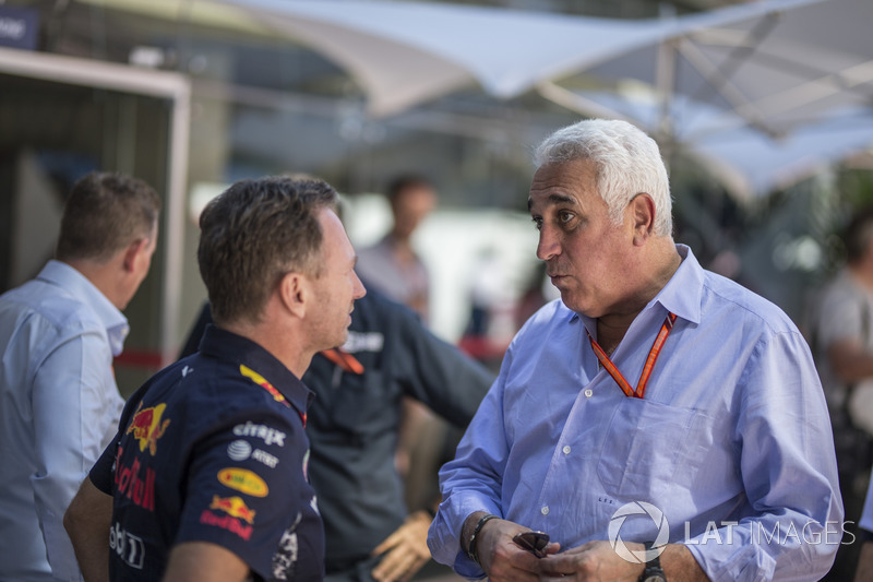 Christian Horner, Red Bull Racing Team Principal and Lawrence Stroll
