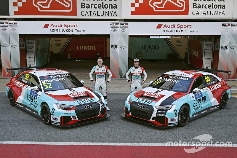 Гонщики Audi Sport Leopard Lukoil Team Гордон Шедден и Жан-Карл Вернэ, автомобили Audi RS3 LMS TCR