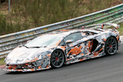 Lamborghini Aventador SV Jota, spy photo