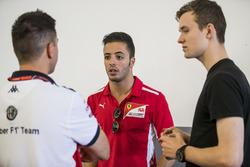 Antonio Fuoco, Charouz Racing System, with GP3 driver Callum Ilott
