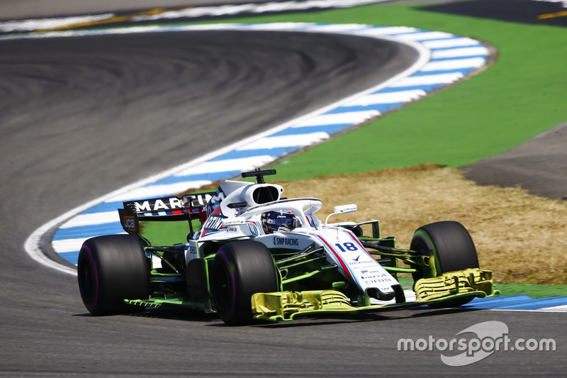 Lance Stroll, Williams FW41, avec de la peinture aérodynamique