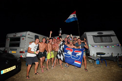 Campsite Max Verstappen, Red Bull Racing fans and atmosphere