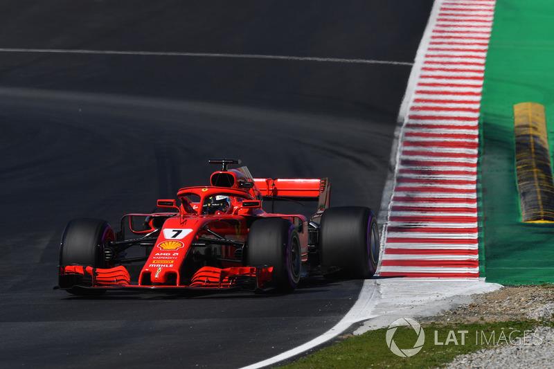 2º Kimi Raikkonen, Ferrari SF71H: 1:17.221 (Hiperblandos)