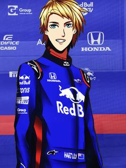 Brendon Hartley, Scuderia Toro Rosso cartoon cut outs