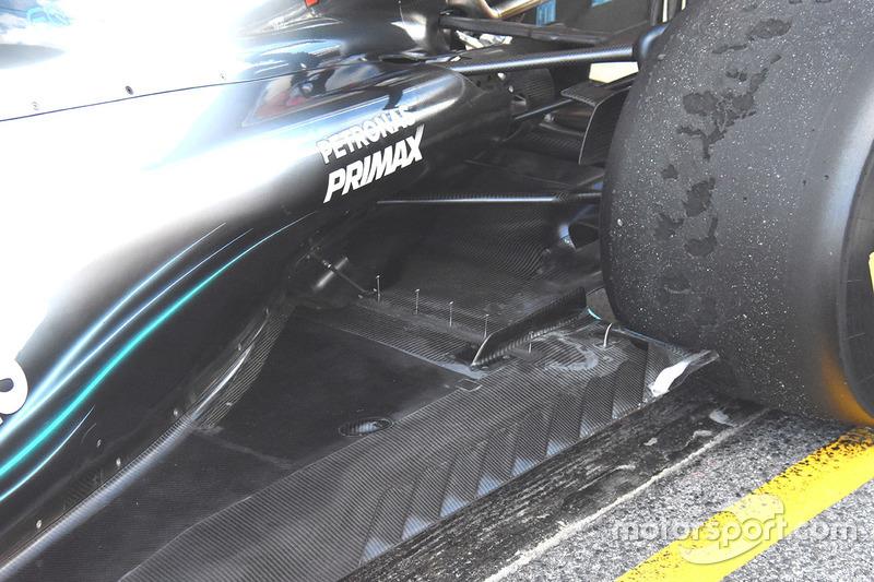 Mercedes W09: Sensoren