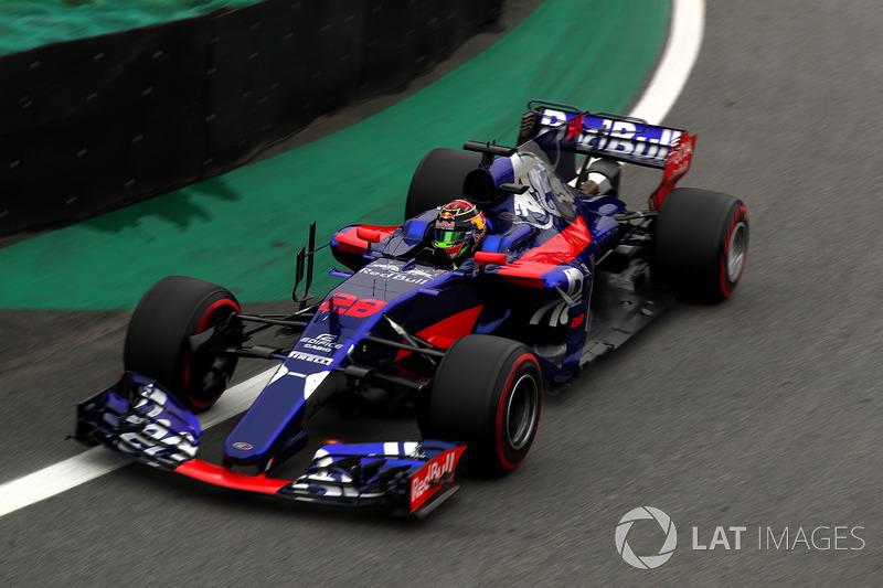 Сход. Брендон Хартли, Toro Rosso