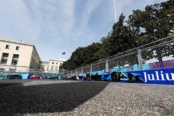 Николя Прост, Renault e.Dams, Маро Энгель, Venturi Formula E Team, Том Бломквист, Andretti Formula E Team, и Жером д'Амброзио, Dragon Racing