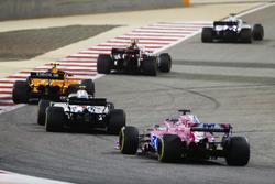 Charles Leclerc, Sauber C37 Ferrari, Stoffel Vandoorne, McLaren MCL33 Renault, Sergey Sirotkin, Williams FW41 Mercedes, and Sergio Perez, Force India VJM11 Mercedes