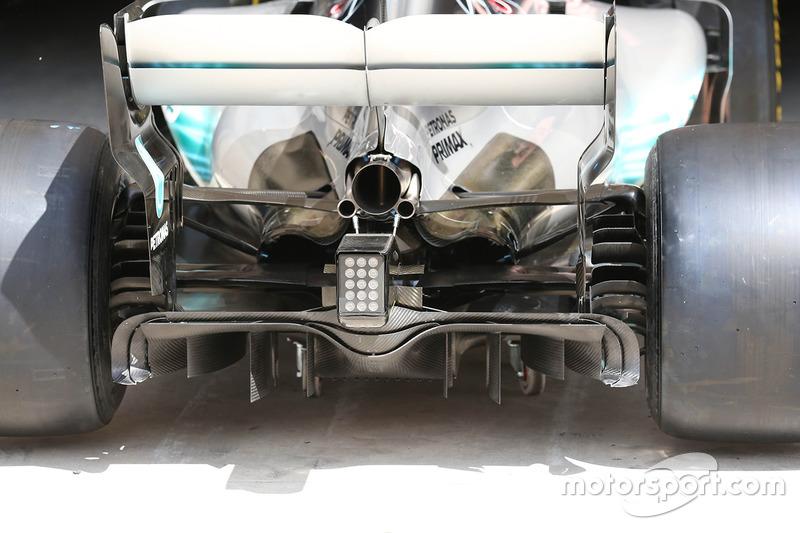 Diffuseur de la Mercedes AMG F1