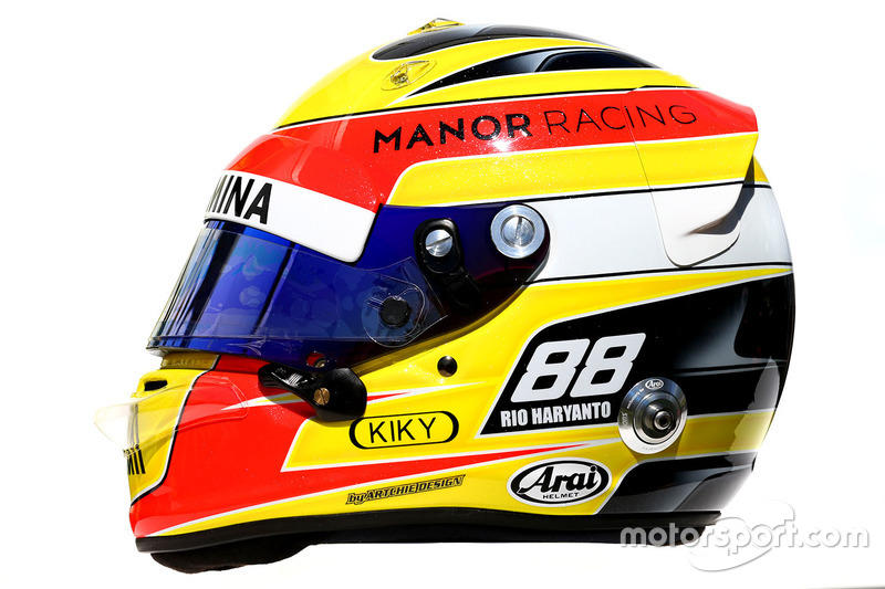 Helm von Rio Haryanto, Manor Racing