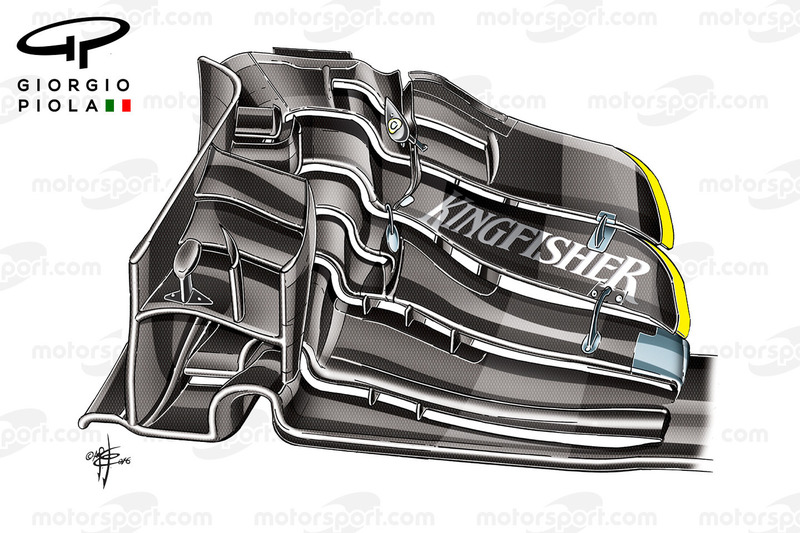 Force India VJM08 front wing, Austrian GP