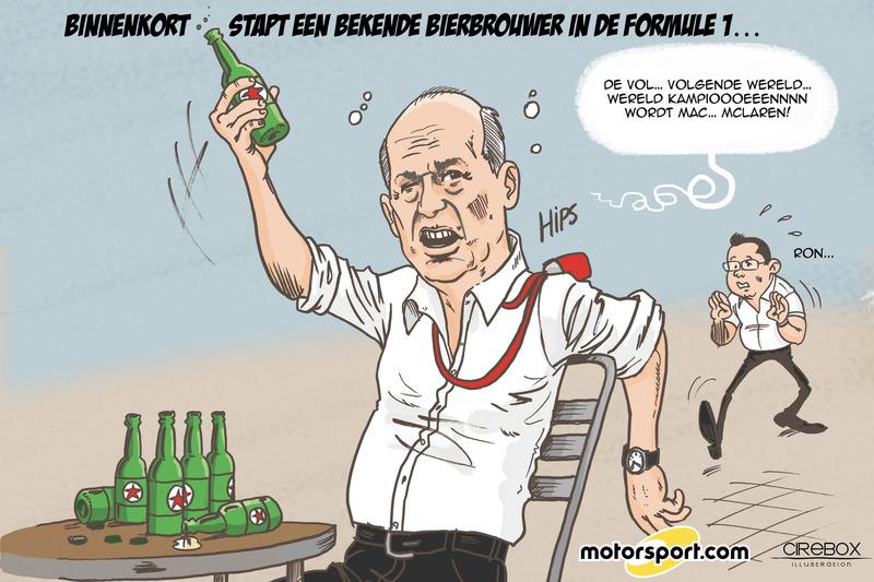 Bij welke GP maakte F1 bekend in zee te gaan met een groot Nederlands biermerk?