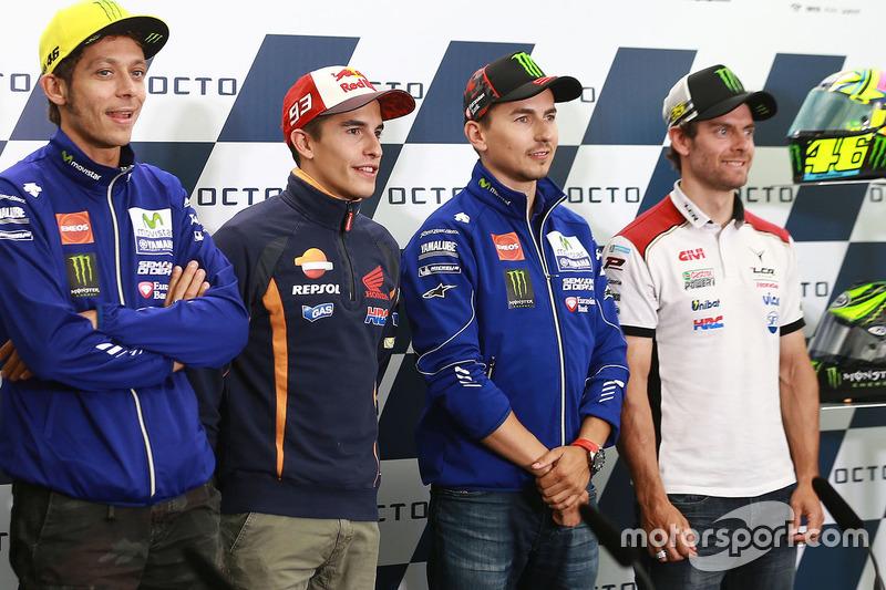 Valentino Rossi, Yamaha Factory Racing, Marc Marquez, Repsol Honda Team, Jorge Lorenzo, Yamaha Factory Racing, Cal Crutchlow, Team LCR Honda