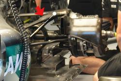 Suspensión del Mercedes AMG F1 W07 Hybrid