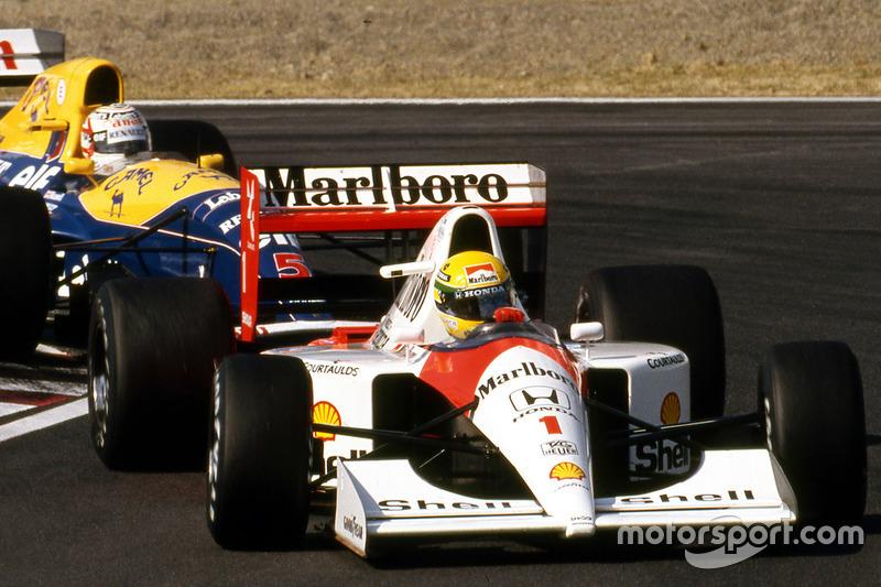 Айртон Сенна (McLaren Honda) і Найджел Менселл (Williams Renault)