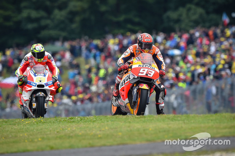 Marc Marquez, Repsol Honda Team, Andrea Iannone, Ducati Team
