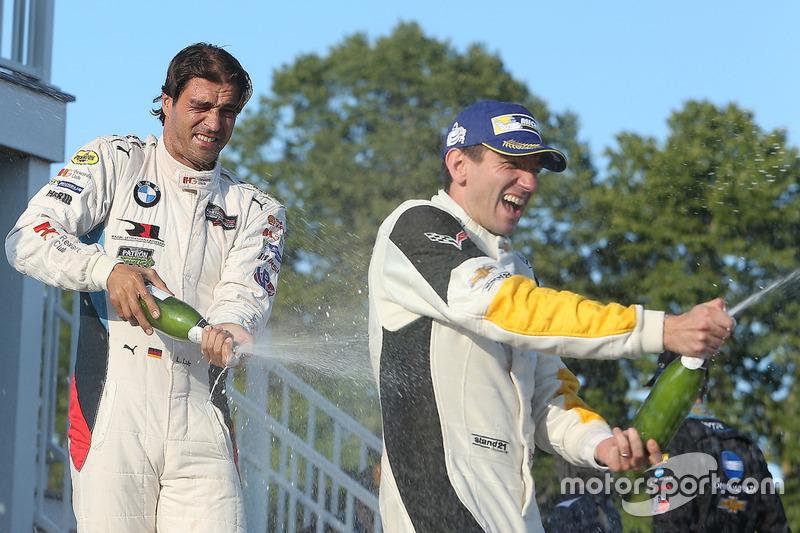 GTLM winner Oliver Gavin, Corvette Racing, third place Lucas Luhr, BMW Team RLL