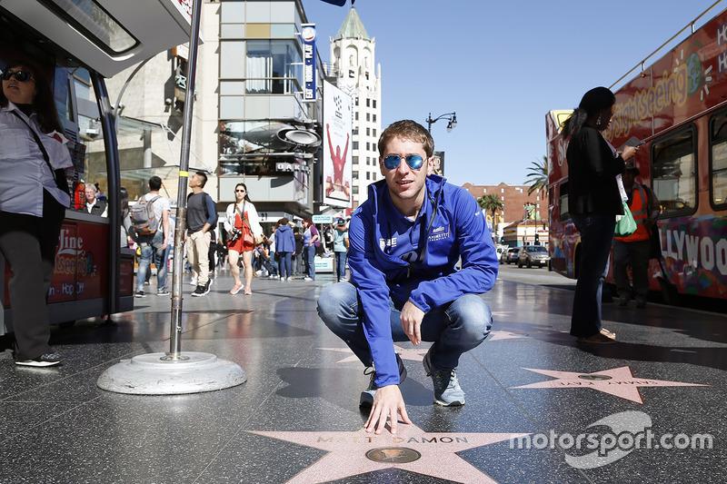 Robin Frijns, Amlin Andretti Formula E Team en el Paseo de la Fama