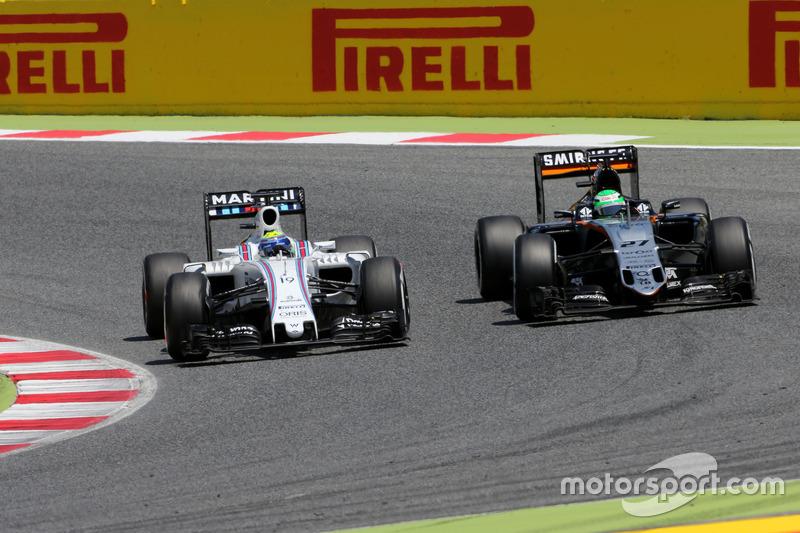 Felipe Massa, Williams F1 Team und Nico Hülkenberg, Sahara Force India