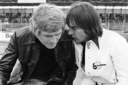 Bernie Ecclestone, Brabham team owner with Max Mosley, March Engineering team manager