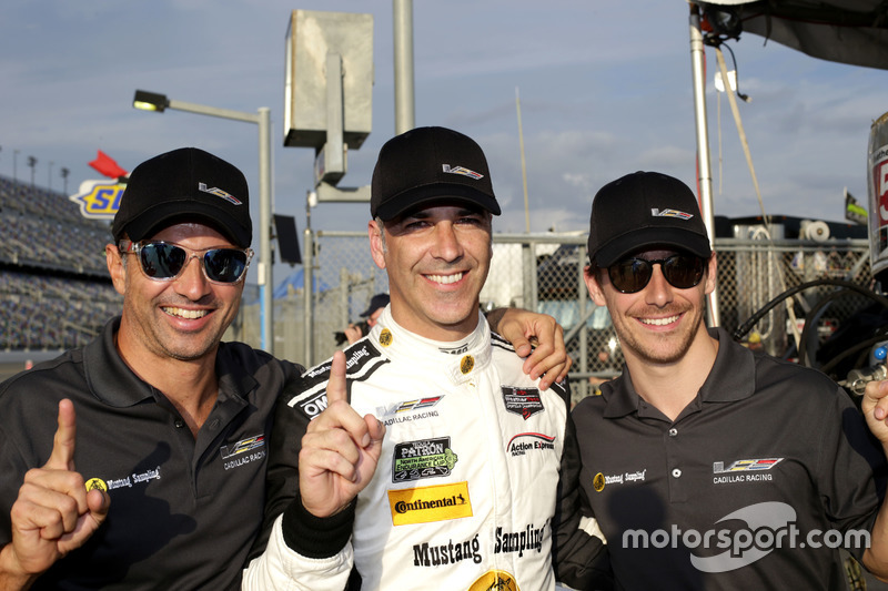 Pole position voor #5 Action Express Racing Cadillac DPi: Joao Barbosa, Christian Fittipaldi, Filipe