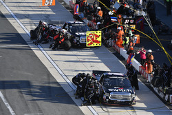 Noah Gragson, Kyle Busch Motorsports Toyota makes a pit stop, Harrison Burton, Kyle Busch Motorsport