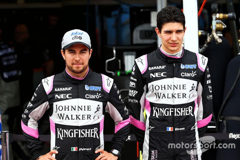 Sergio Perez, Sahara Force India F1 con Esteban Ocon, Sahara Force India F1 Team