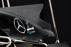 Mercedes F1 W08 shark detail