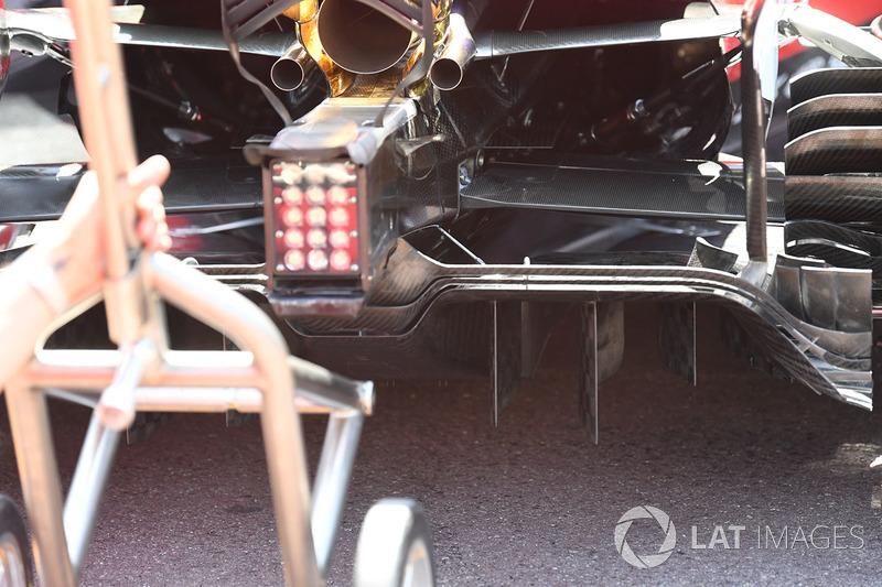 Detail bagian belakang Ferrari SF70-H
