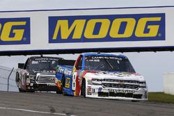 John Hunter Nemechek, SWM-NEMCO Motorsports Chevrolet and Noah Gragson, Kyle Busch Motorsports Toyota