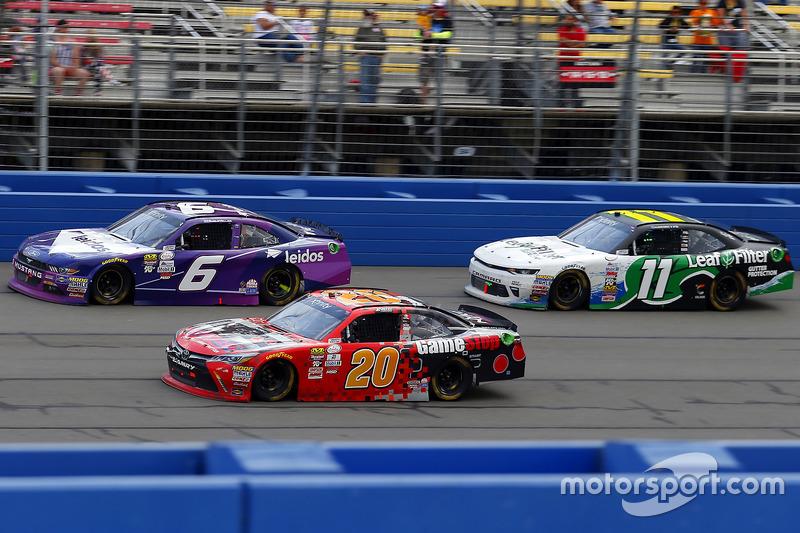 Erik Jones, Joe Gibbs Racing, Toyota; Darrell Wallace Jr., Roush Fenway Racing, Ford; Blake Koch, Ka