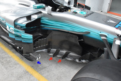 Mercedes F1 W08 barge boards