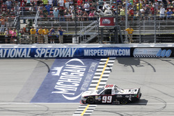 Darrell Wallace Jr., MDM Motorsports Chevrolet takes the checkered flag