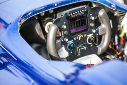 Steering wheel of Colton Herta, Andretti Steinbrenner Racing