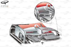 McLaren MP4-27 front wing changes