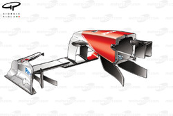 Toyota TF109 2009 front wing and nose rear view