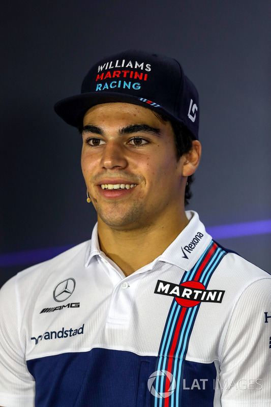 Lance Stroll, Williams in the Press Conference