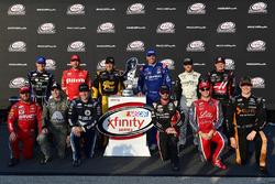 Daniel Hemric, Richard Childress Racing Chevrolet, Michael Annett, JR Motorsports Chevrolet, Brendan