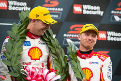 Podium: second place Scott McLaughlin, Team Penske Ford, Alexandre Prémat, Team Penske Ford