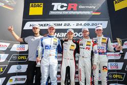 Podium: 1. Harald Proczyk, HP Racing, Opel Astra TCR, 2. Mike Halder, Wolf-Power Racing, Seat Leon T