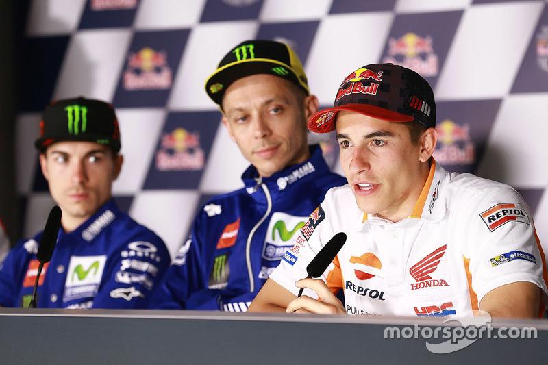 Maverick Viñales, Yamaha Factory Racing, Valentino Rossi, Yamaha Factory Racing, Marc Marquez, Repsol Honda Team