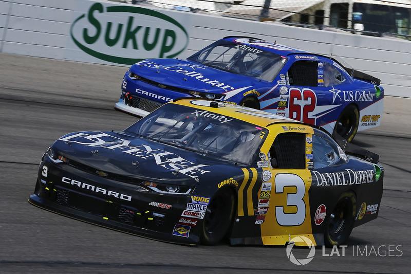 Brian Scott, Daniel Defense Chevrolet Camaro, Brendan Gaughan, Richard Childress Racing Chevrolet