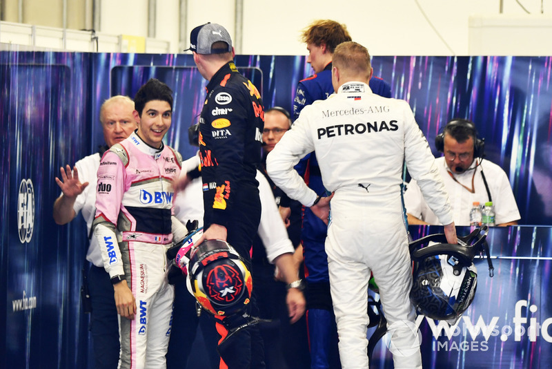 Max Verstappen, Red Bull Racing és Esteban Ocon, Racing Point Force India