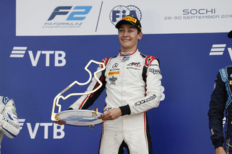 Podium: race winner George Russell, ART Grand Prix