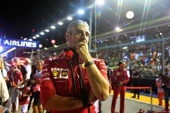 Maurizio Arrivabene, Team Principal Ferrari, in griglia di partenza