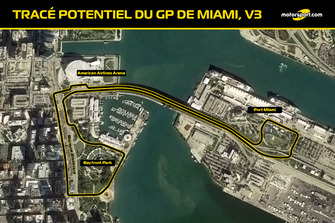 Tracé probable du GP de Miami V3