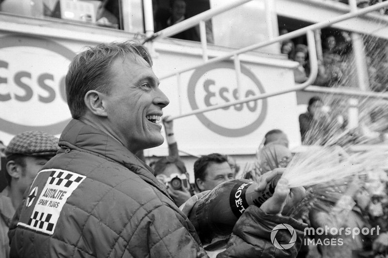 Dan Gurney celebrates victory at Le Mans