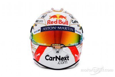 Max Verstappen helmet unveil