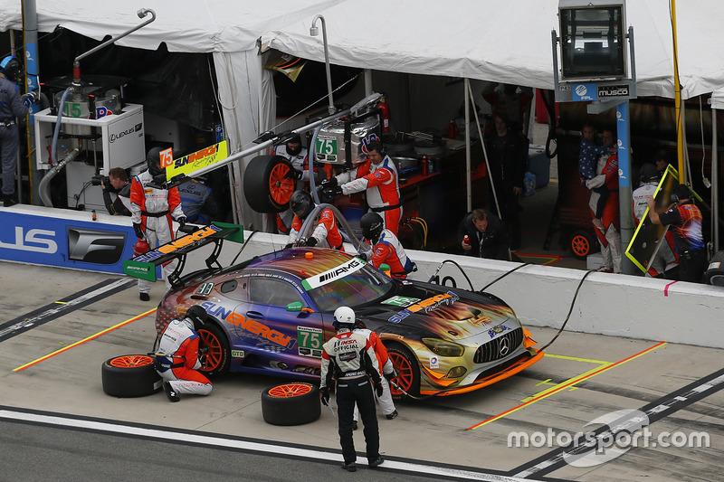 #75 SunEnergy1 Racing Mercedes AMG GT3: Boris Said, Tristan Vautier, Kenny Habul, Maro Engel, pit ac